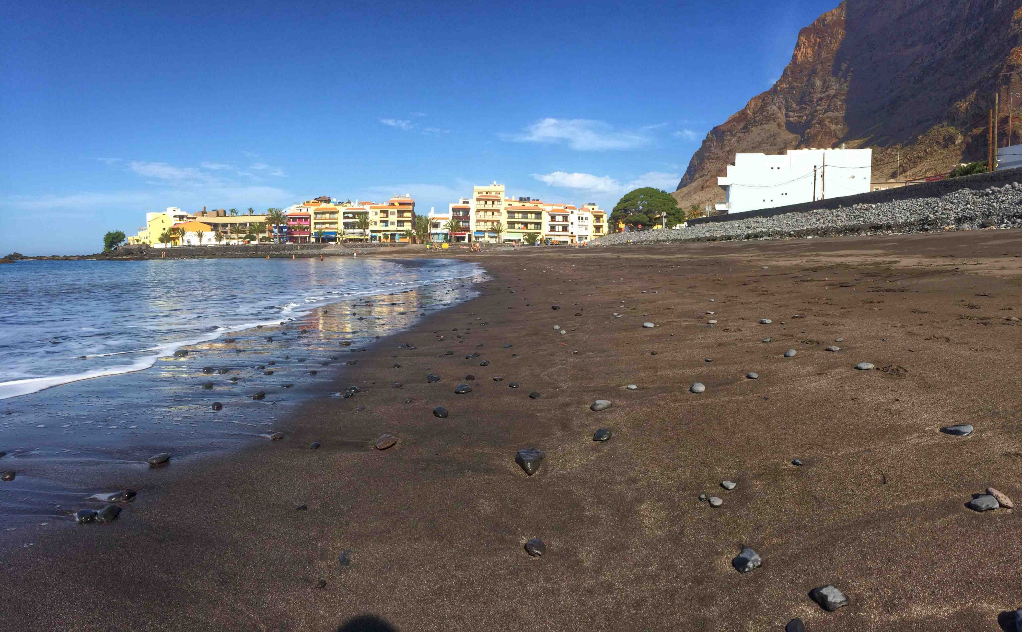 La Playa, Playa Calera, La Gomera, Valle Gran Rey, Arena negra,